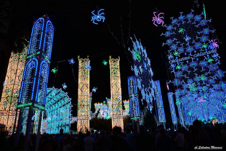 La magia delle luminarie Salentine:Santa Domenica a Scorrano